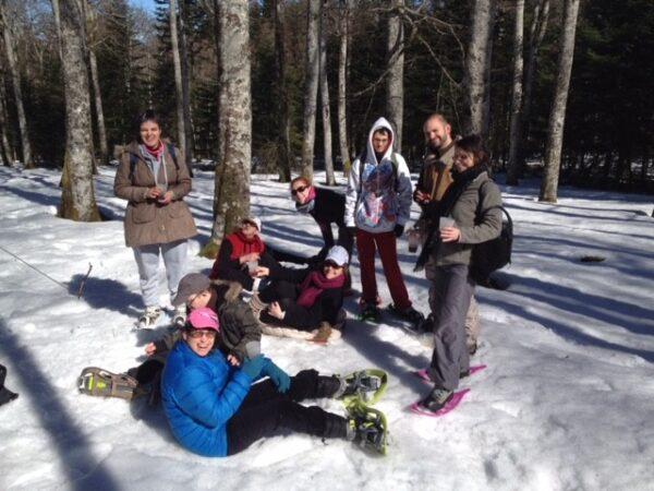 RAndonnée raquettes à neige loge des Gardes
